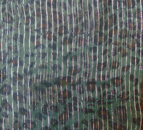 Green animal print tichels