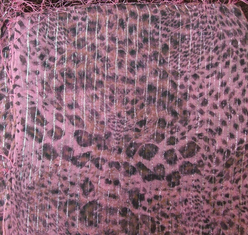 Pink with a hint of orange animal print tichel