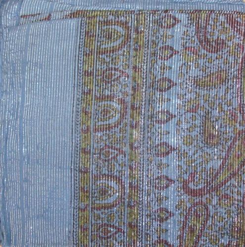 Blue thin line fancy cotton tichel