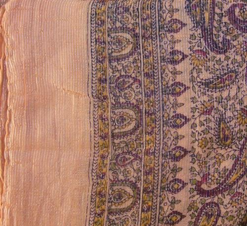 lighter orange thin line fancy cotton tichel