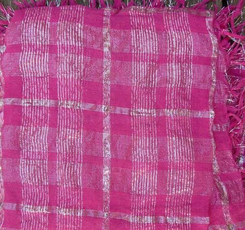 Pink plaid tichel