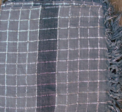 Gray plaid tichel