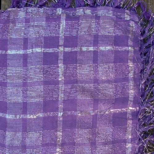 Purple plaid tichel