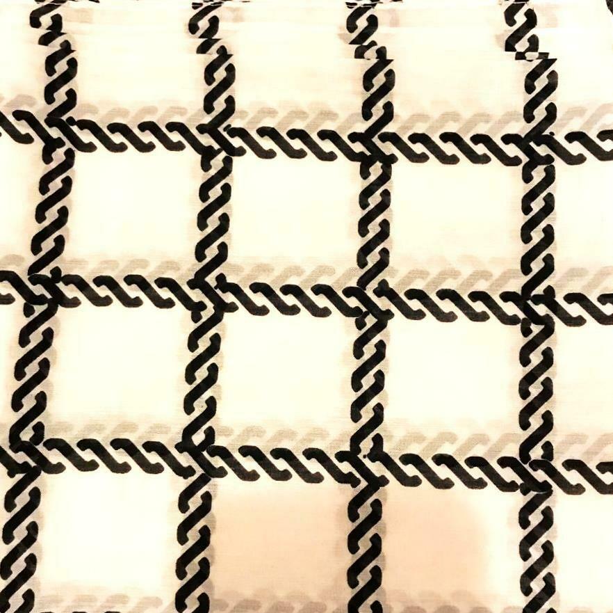 White n black Turkish head scarve