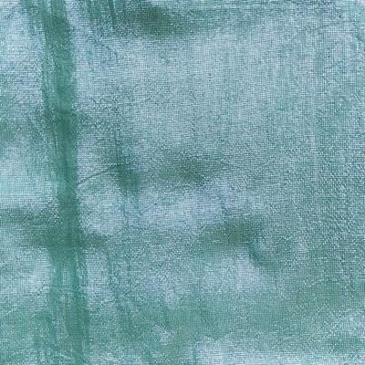 Shimmering solid tichel  crocodile green (med. color)