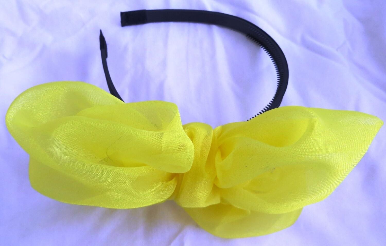 Yellow Spring bow headband