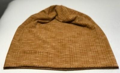 Golden brown soft cotton Beanie