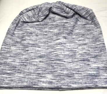 Light gray/with blue soft cotton Beanie