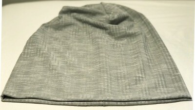 Solid light gray soft cotton Beanie