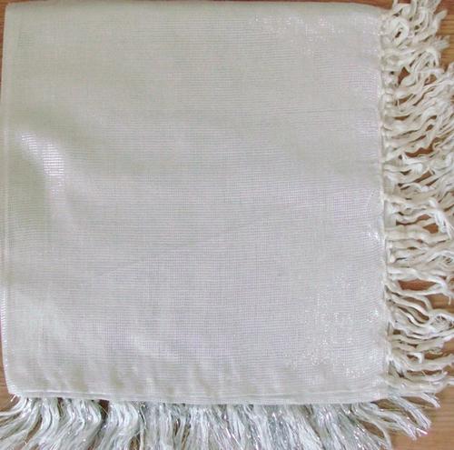 White solid shimmering tichel