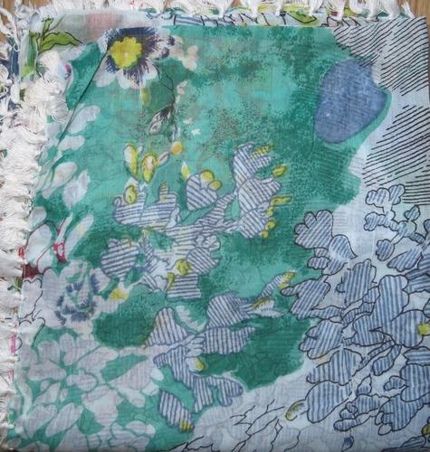 Mint green extra fancy headscarve tichel