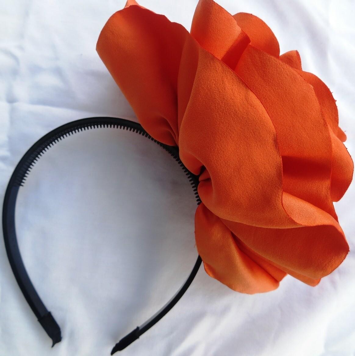 Orange extra large flower headband