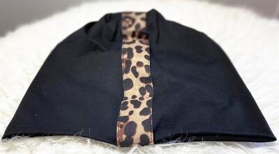 Animal print loose beanie