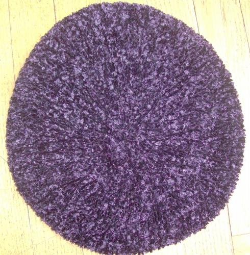 Purple chenille snood
