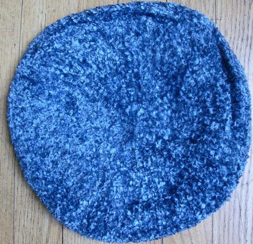 Denim blue chenille snood