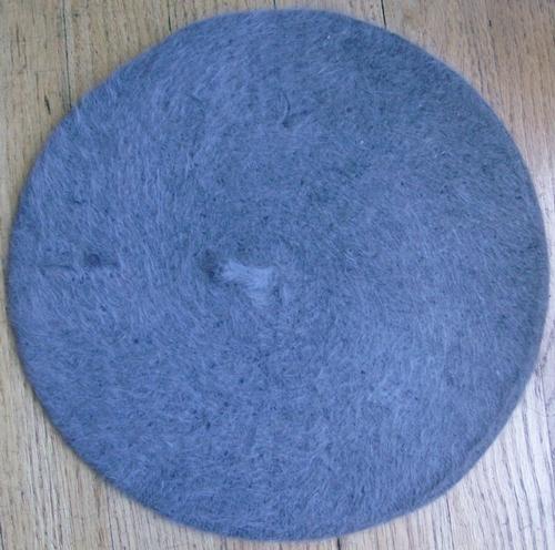 Fur beret gray