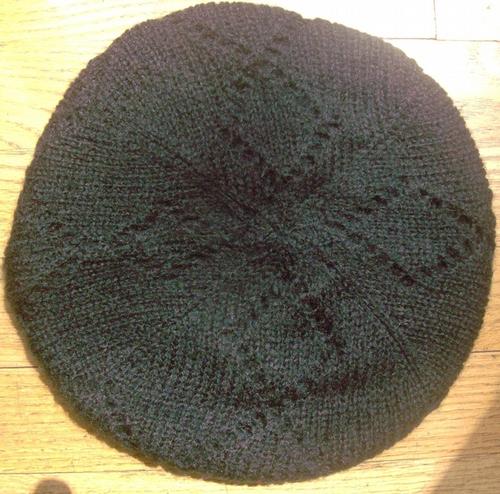 Double layer beret black
