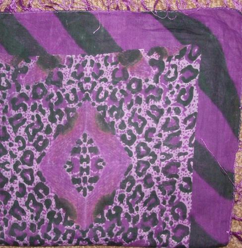 Big bold and bright tichel purple