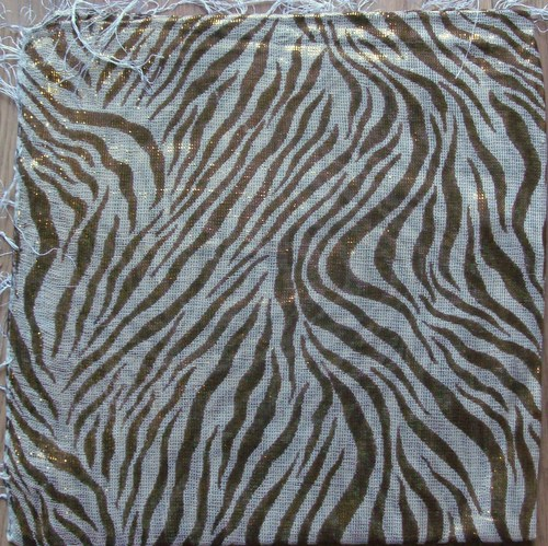 Gold zebra shimmering animal print tichel