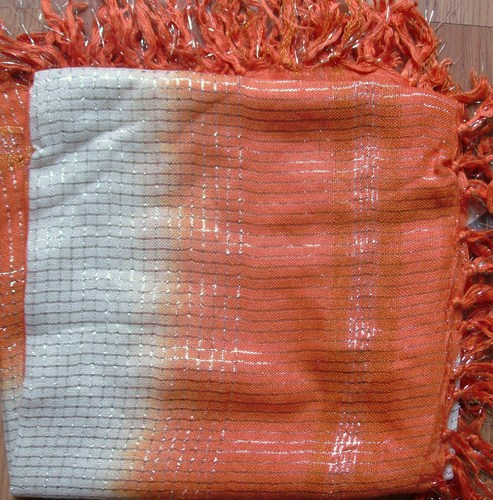 Orange two tone tichel
