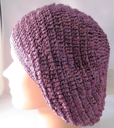 Purplish lavender mini sequins snood