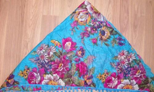 Beach blue tichel bandana