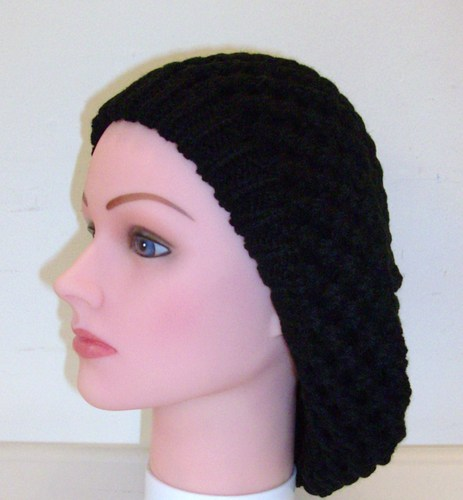 Double layer chunky knit beret