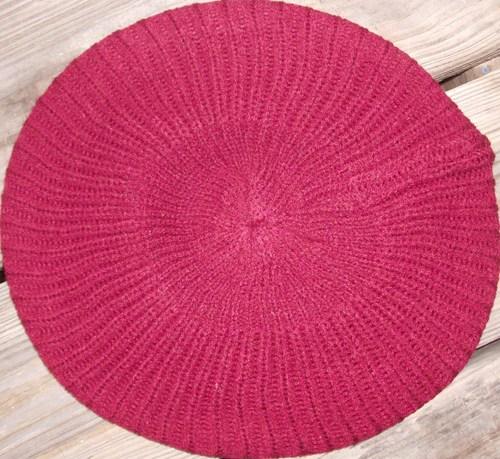 Plain beret  red