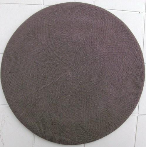 Cotton beret brown large