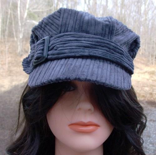 Corduroy cap gray