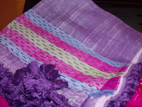 Knitted wild tichel purple