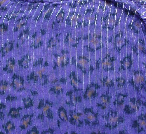 Purple animal print tichel