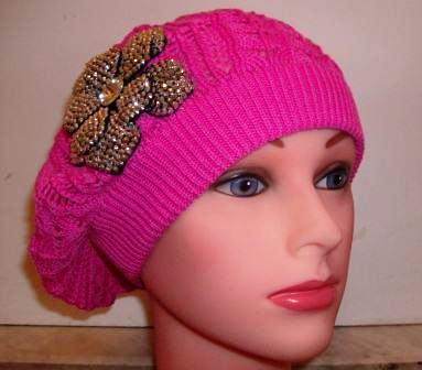 """Pink """"summer style"""" beret"""