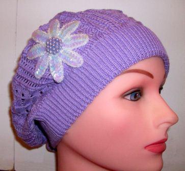 "Purple ""summer style"" beret"