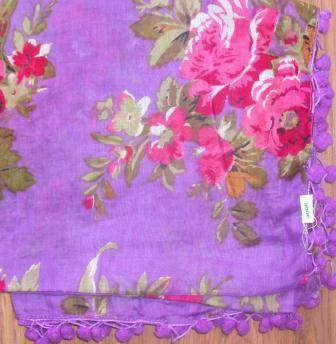 Snazzy tichel light purple