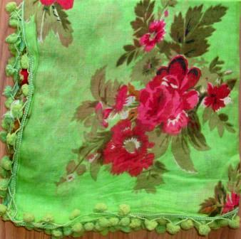 Snazzy tichel light green