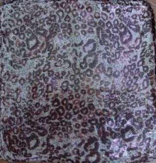 Shimmering animal print tichel new pattern
