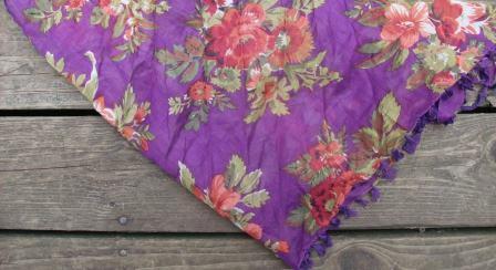 Purple tichel bandana