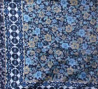 Blue silky style tichel