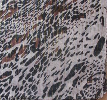 Fancy cotton animal print tichel beige background