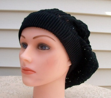 Extra light beret black