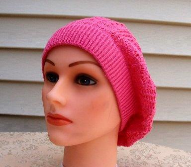 Extra light beret hot pink