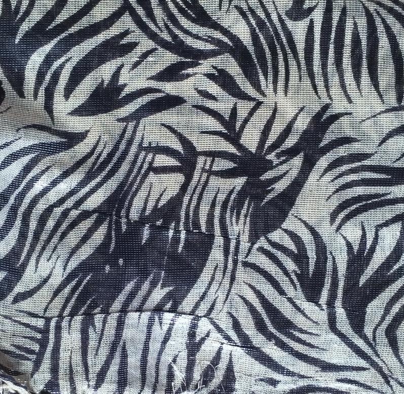 Off white shimmering animal print tichel