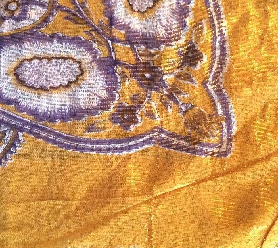 Gold shimmer headscarve tichel