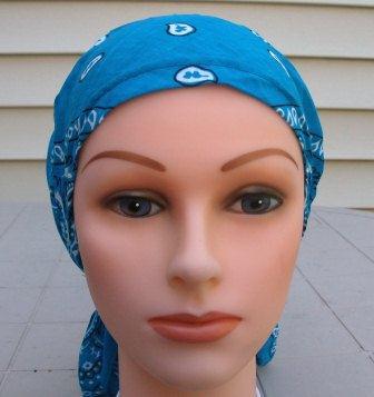Pre tied bandana aqua blue