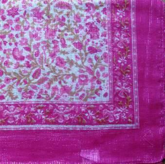 Thin lines tichel pink
