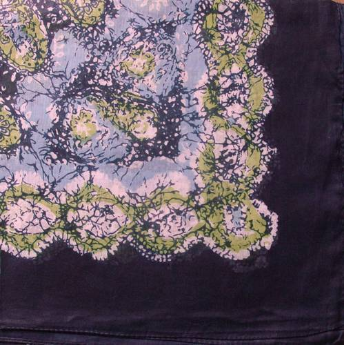 Round pattern tichel black