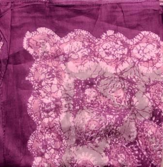 Round pattern tichel fuchsia rose