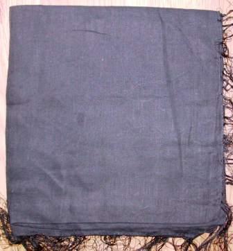 Black solid color tichels