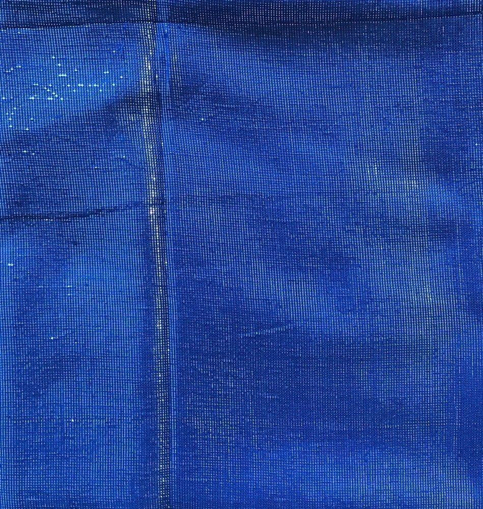 Shimmering solid tichel denim color